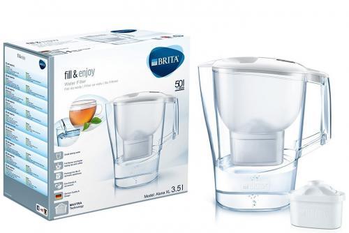 Brita Aluna XL vízszűrő kancsó fehér 3 db szűrőbetéttel | DigitalPlaza.hu