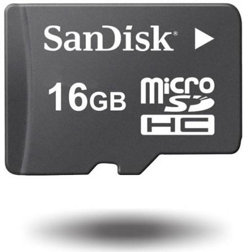 SanDisk microSDHC 16GB Class 4 SDSDQB-016G-B35 memóriakártya adapterrel   DigitalPlaza.hu