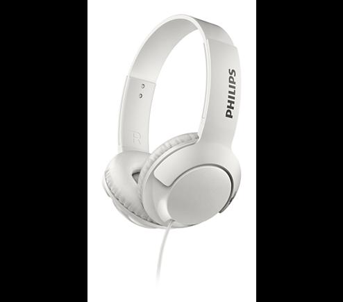 Philips SHL3070WT/00 Bass+ fejhallgató fehér | DigitalPlaza.hu