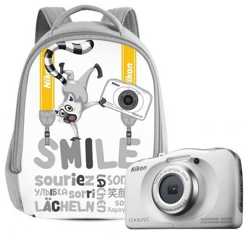 Nikon Coolpix W100 digitális fényképezőgép fehér + hátizsák szett   DigitalPlaza.hu