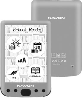 Navon Bigbook Backlight E Ink Anti Glare 8GB e-book olvasó | DigitalPlaza.hu