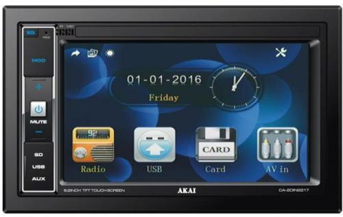 Akai CA-2DIN2217 SD/USB/AUX/RCA autóhifi fejegység | DigitalPlaza.hu