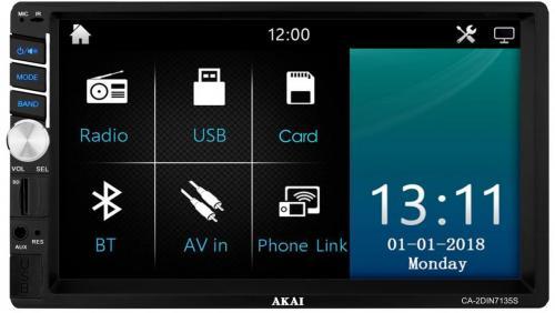 Akai CA-2DIN7135S SD/USB/AUX/BT autóhifi fejegység | DigitalPlaza.hu
