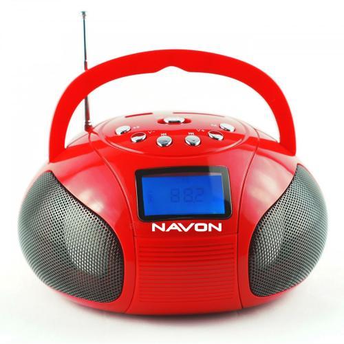 Navon NPB100 boombox piros | DigitalPlaza.hu