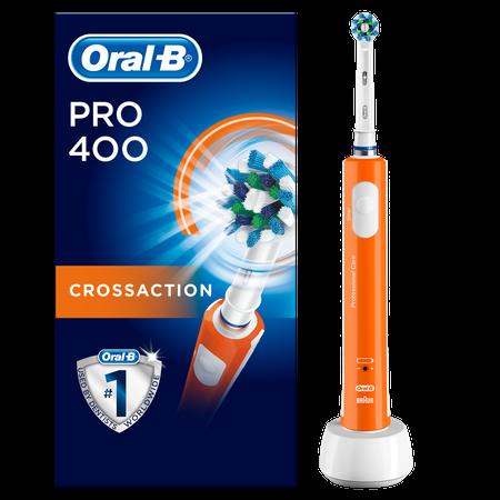 Oral-B PRO 400 Cross Action (D16.513) elektromos fogkefe narancssárga   DigitalPlaza.hu