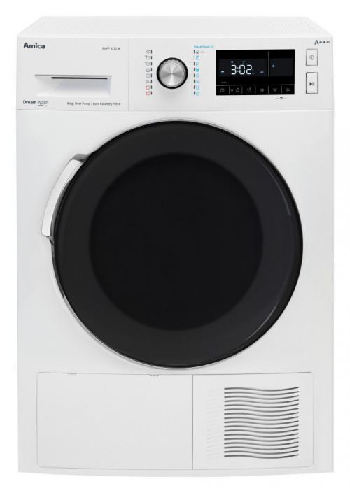 Amica SUPF 8232 W hőszivattyús szárítógép 8kg A+++ energiaosztály | DigitalPlaza.hu